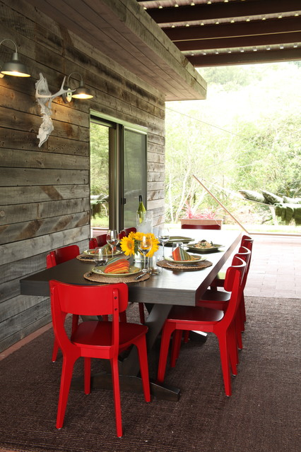 Discounted Patio Furniture Porch Rustic with Barn Light Covered Patio