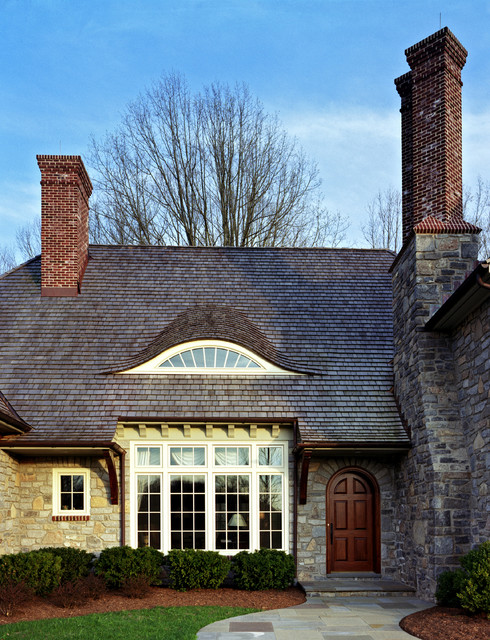 Dormer Windows Exterior Traditional with Arched Door Arts Crafts