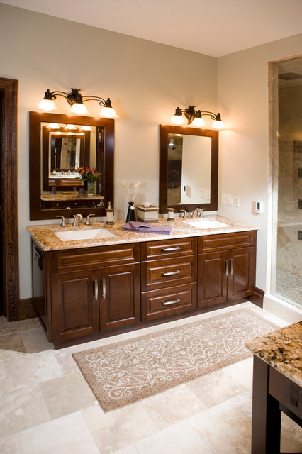double sink bathroom vanities Bathroom Traditional with Cabinetry Chervin Kitchen Bath