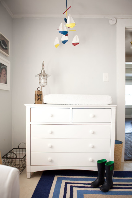 Dresser Changing Table Nursery Traditional with Basket Blue Rug Boat