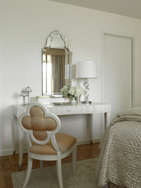 Dressing Table Vanity Bedroom Contemporary with Baker Scalloped Desk Clover1