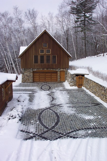 Driveway Pavers Garage and Shed Rustic with Cabin Cobble Drive Decorative