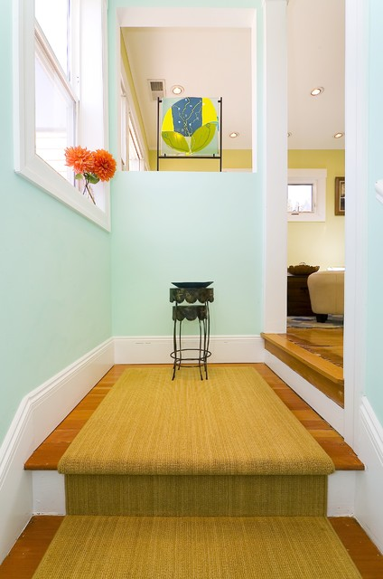 Dunn Edwards Paint Colors Entry Contemporary with Baseboard Carpet Runner Ceiling