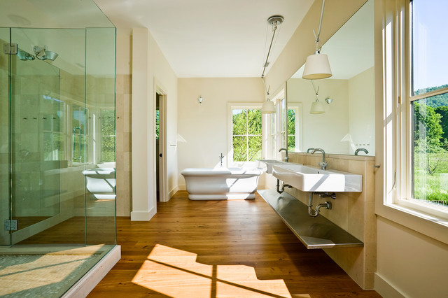 Duravit Sink Bathroom Farmhouse with Double Sinks His And