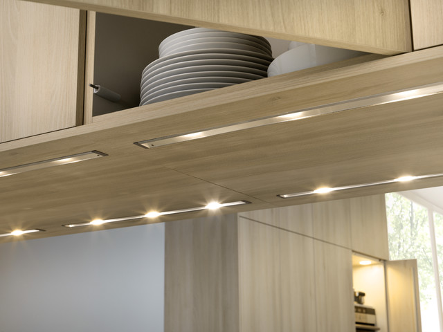 E12 Led Bulb Kitchen Contemporary with Acacia Cabinets Contemporary Kitchen