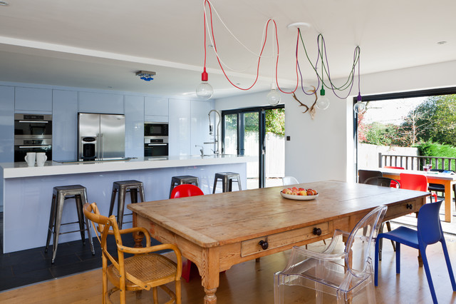 E12 Light Bulb Kitchen Contemporary with Blue Kitchen Cabinets Ceiling