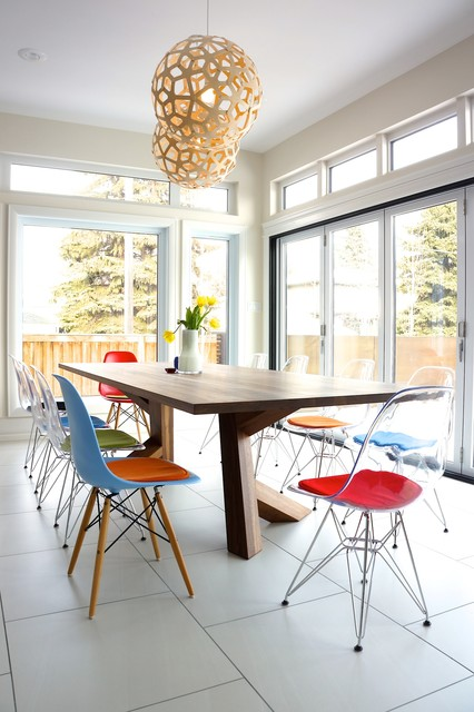 eames chair replica Dining Room Contemporary with charles eames Clear Eames