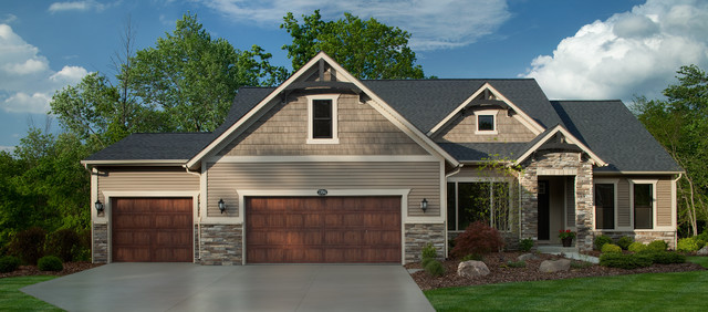 eastbrook homes Exterior Traditional with 3 car garage Exterior