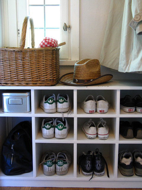 Entryway Shoe Storage Spaces with Closets