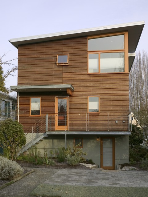 Epay Wood Exterior Contemporary with Basement Entryway Brick Patio