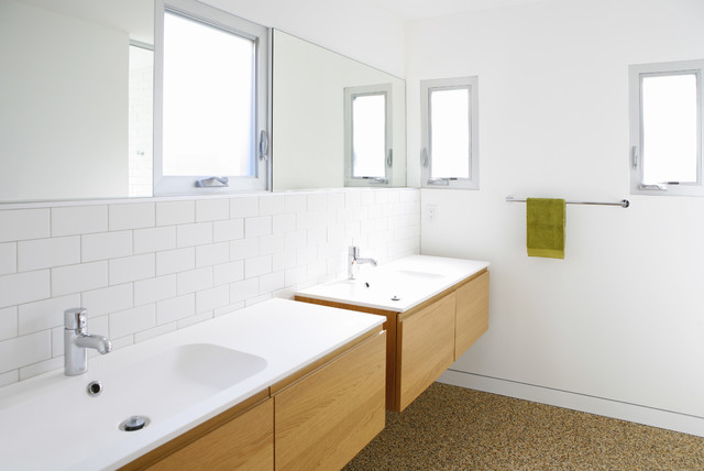 Farm Sink Ikea Bathroom Modern with Floating Vanity Frosted Glass