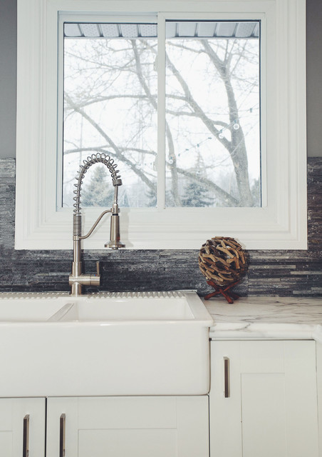 Farm Sink Ikea Kitchen Farmhouse with 3x6 Subway Tile Backsplash