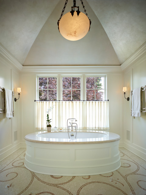 Faux Tin Ceiling Tiles Bathroom Traditional with Beige Ceiling Beige Curtains