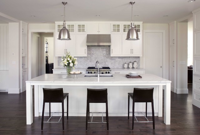 Feng Shui Rules Kitchen Traditional with Black and White Breakfast