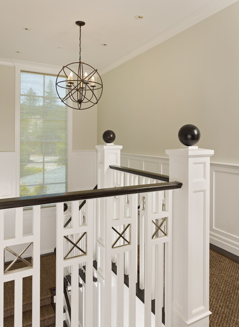 Finials Staircase Victorian with Cage Chandelier Ceiling Lighting