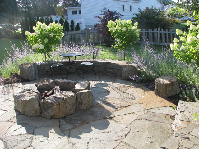 fire pit kits Landscape Traditional with Belgard bistro table boulder
