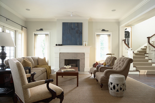 Fireplace Mantel Kits Living Room Traditional with Area Rug Crown Molding