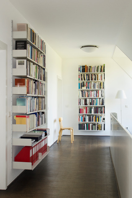 Floating Bookshelves Hall Contemporary with Book Storage Bookcase Bookshelf