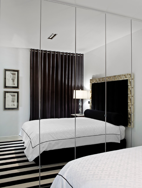 floor mirror ikea Bedroom Contemporary with Black and White 100
