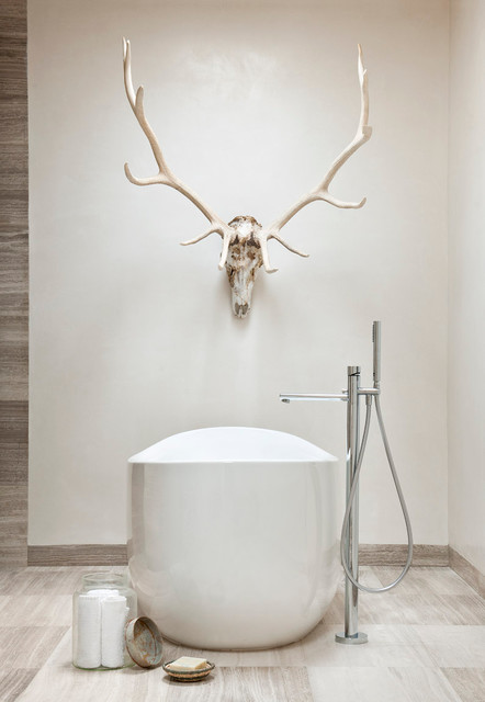 Free Standing Hammock Bathroom Southwestern with Adobe Antlers Bathtub Clean