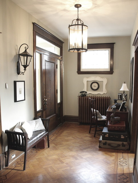 Front Door with Sidelights Entry Eclectic with Baseboard Desk Entry Bench1