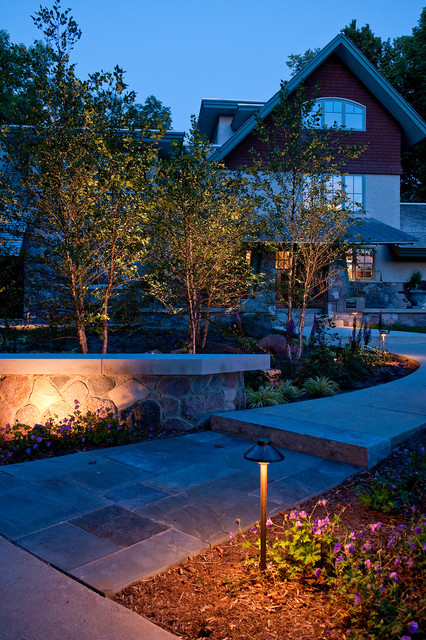 fx luminaire Landscape Craftsman with curb appeal garden ideas