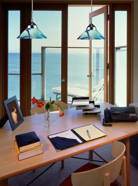 G9 Bulb Home Office Contemporary with 14771car Carribean Glass Down