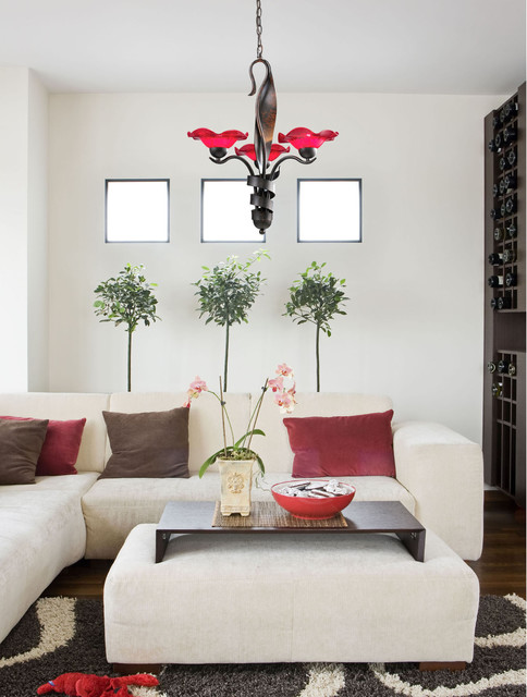 G9 Bulb Living Room Modern with Brown Chandelier 101823chy 3