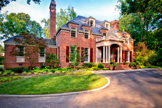 General Shale Brick Exterior Traditional with Arched Window Architecture Beige