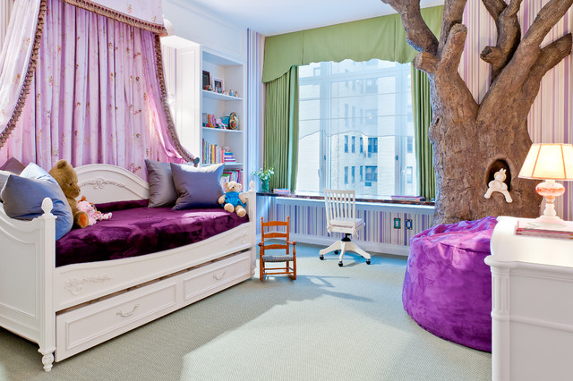 Girls Daybed Kids Traditional with Beanbag Bed Storage Bedroom