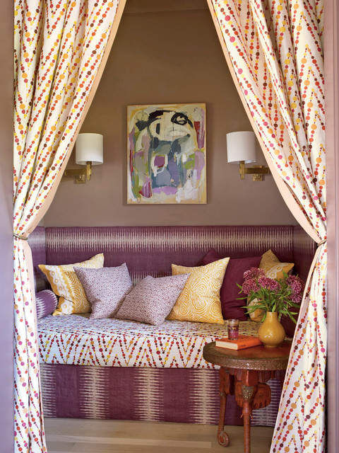 Girls Daybed Living Room Tropical with Accent Table Artwork Banquet