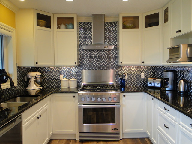 Glass Curio Cabinets Kitchen Traditional with Custom Colour Painted Lacquer