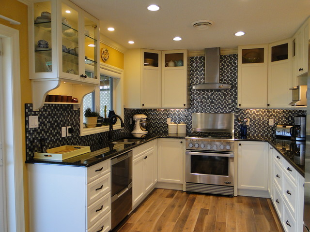 Glass Curio Cabinets Kitchen Traditional with Custom Colour Painted Lacquer1