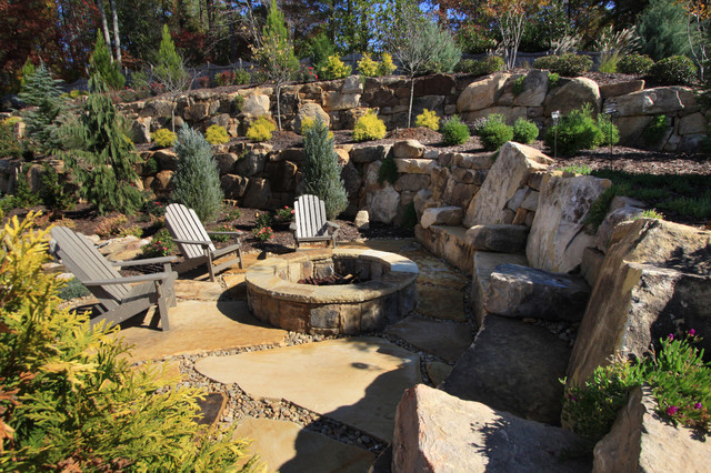 Glider Rocking Chair Landscape Traditional with Adirondack Chair Boulders Council
