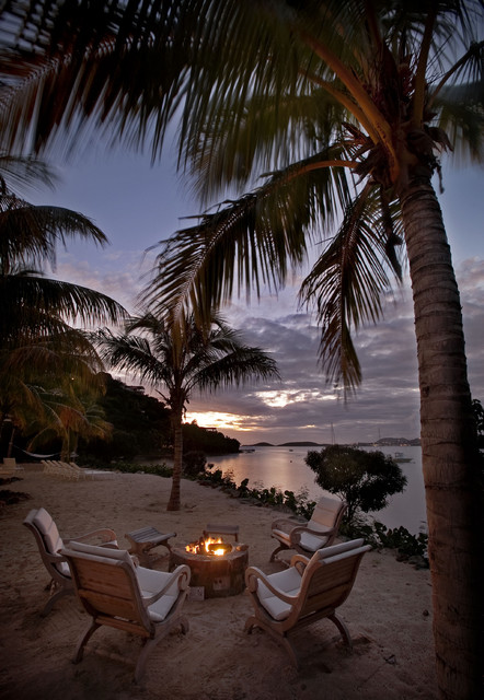 Gloster Furniture Landscape Tropical with Beach Coastal Fire Pit