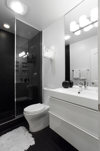 Graff Faucets Bathroom Contemporary with Artwork Black and White