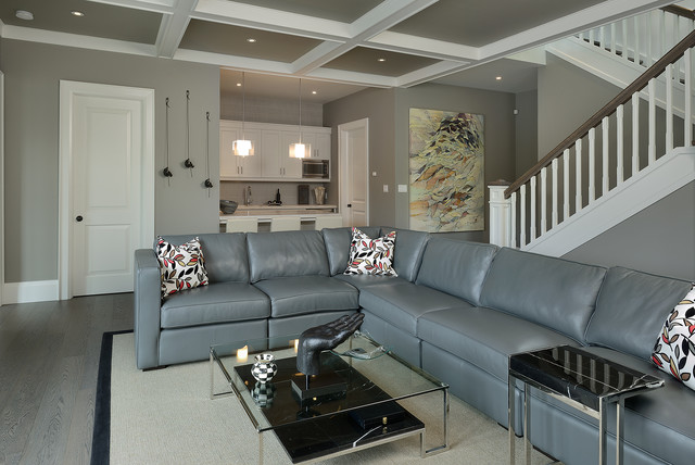Grey Sectional Sofas Basement Contemporary with Black Marble Botanical Pillow