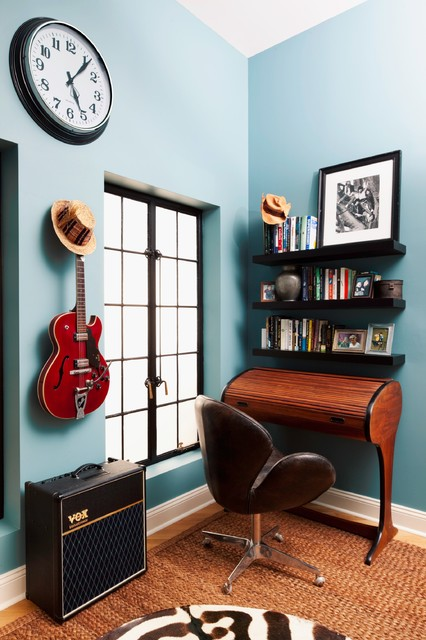 Guitar Wall Hanger Home Office Eclectic with Antique Window Bedroom Window