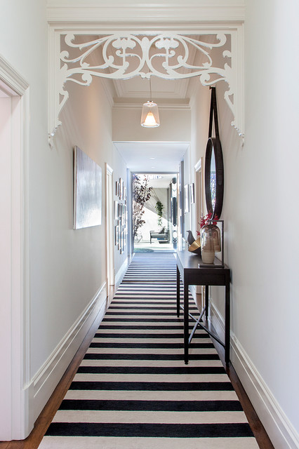hallway runners Hall Contemporary with art nouveau artwork barge