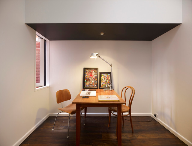 halogen desk lamp home office modern with alcove australian architects christopher alcove contemporary home office