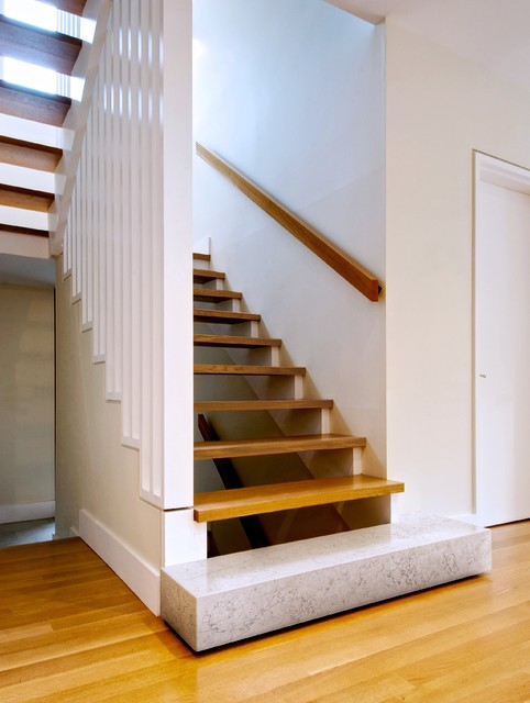 Handrail Brackets Staircase Modern with Bianco Asiago Marble Stair