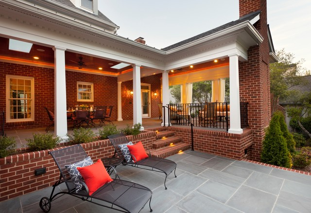 Hanson Brick Exterior Traditional with Bluestone Brick Brick Walls