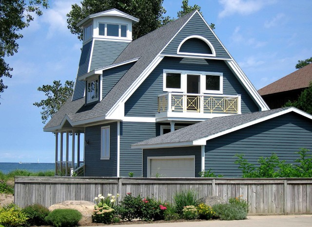 Hardiplank Exterior Traditional with Blue Exterior Blue Siding