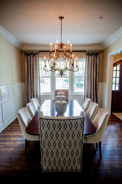 hickory chair Dining Room Traditional with Applied Panel Molding Barbara