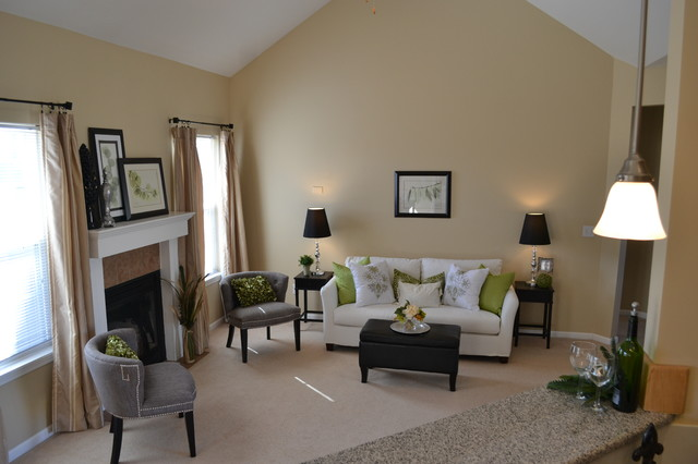 Home Depot Lawrence Ks Spaces Transitional with Home Staging Stylish Staging