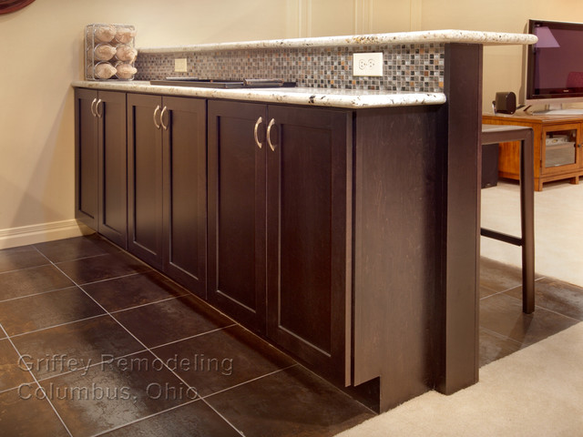 Homecrest Cabinets Basement Contemporary with Bar Bar Stools Cabinet