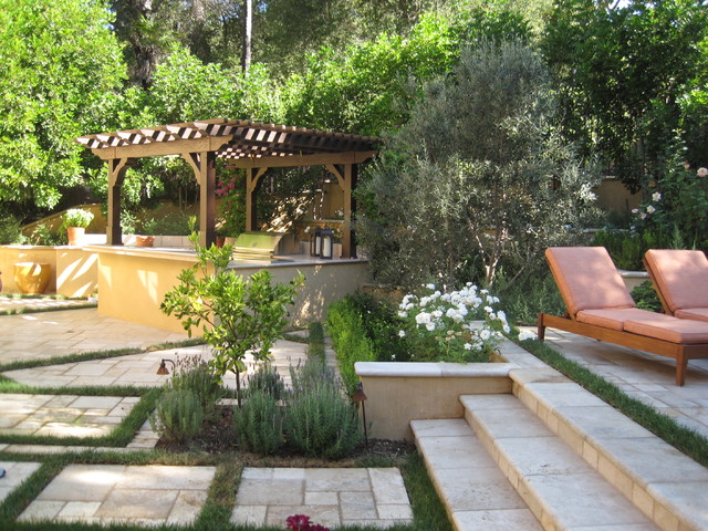 Hot Tub Enclosures Patio Mediterranean with Barbecue Bbq Grass Grass
