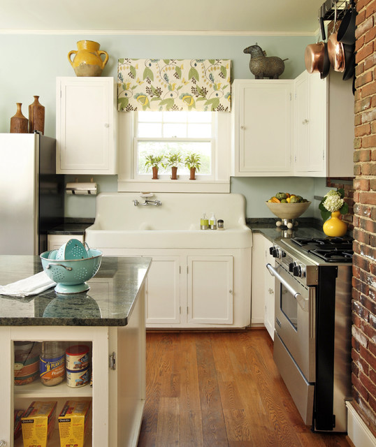 How to Fix Garbage Disposal Kitchen Eclectic with Apron Sink Brick Copper