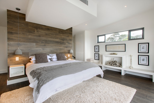 How to Install Wainscoting Bedroom Contemporary with Artwork Bedroom Built in Bed