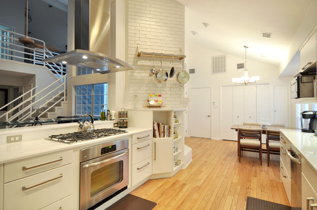 How to Whitewash Brick Kitchen Contemporary with Brick Wall Contemporary Custom2